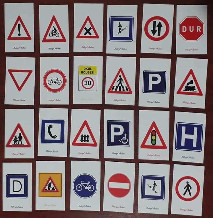 Trafik Işaretleri Eşleme Ve Hafıza Oyunu Aktaş Eğitim Materyalleri