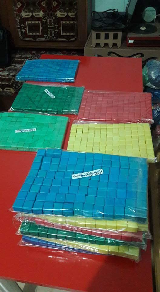 Renkli Plastik Küpler (520 adet ) - HIZIR ��RETMEN 0682848f60105